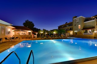 gallery ionis hotel night swimming pool