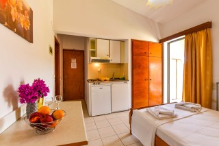 kitchenette apartment ionis hotel interior